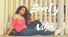 Red Off-shoulder top for Indian women , read this outfit inspiration