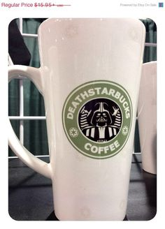 Hey, I found this really awesome Etsy listing at https://www.etsy.com/listing/188717397/star-wars-mug-darth-vader-17oz-latte-mug