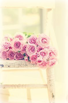 Roses on the chair by lucia and mapp, via Flickr