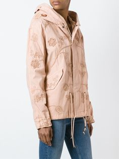 Mr & Mrs Italy floral embroidery parka