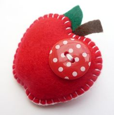 Juicy Apple Felt Brooch - Lovely Teacher Gift