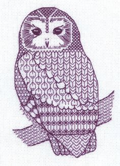 blackwork owl