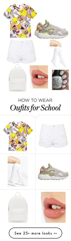 """""""Still back 2 school"""" by pelopsirby on Polyvore featuring NIKE, Topshop, Nordstrom, PB 0110, Charlotte Tilbury and OPI"""
