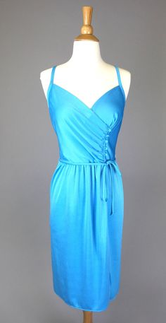 The Charlie's Angel - 1970s Vintage Convertible Wrap Dress Light Blue Disco Party Women Size Small by RIPandROSE on Etsy