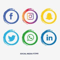 Social Media Art, Social Media Detox, Social Media Buttons, Social Media Quotes, Social Media Design, Social Media Graphics, Social Media Images, Stickers Instagram, Logo Instagram