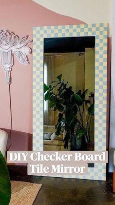 Summer Bedroom, Dream Bedroom, Mirror Tiles, Diy Mirror, American Diner, Apartment Goals, Diy Wall Decor, Home Decor, Watercolor Design