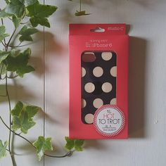 Polka Dot iPhone 6 Case iPhone 6 case ----------------------------- *Studio C's 'Hot To Trot' Collection *Black background w/ cream polka dots *Pink interior *Fits iPhone 6 *Brand new!! Studio C Accessories Phone Cases