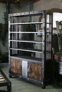 bookshelf by www.zagorskikuznia.pl #VintageIndustrialFurniture