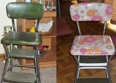 Garage sale find before and after.