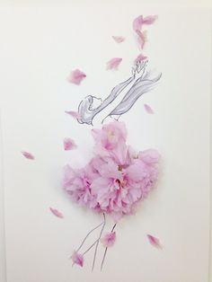 Flower Petals, Flower Art, Illustration Blume, Inspiration Artistique, Imagination Art, Ballerina Art, Fashion Design Drawings, Dance Art, Flower Backgrounds