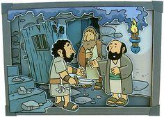 Handelingen 16: Paulus en Silas zitten gevangen. Maar een zware aardschok zorgt ervoor dat ze vrijkomen.