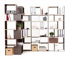 WOOM Design - Unieke design kasten op maat voor wonen en kantoor, COR Book Storage, Storage Boxes, Ikea Lillangen, Modular Shelving, Midcentury Modern, Cupboard, Home Office, Furniture Design, Furniture Ideas