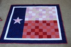 The Texas Flag Baby Quilt by Rebel Perfection