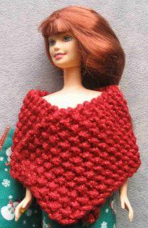 Barbie in her red Glitterspun shawl wrap
