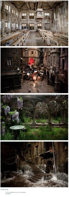 The incredible set of Les Miserables
