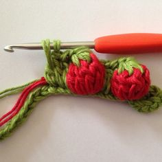 This strawberry stitch is adorable! Make a sweet patch of these berries with just your crochet needles.