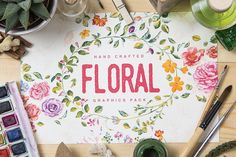 Floral Graphics Pack %25 Intro Sale by emine on @creativemarket
