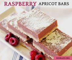 These Raspberry Apricot Bars are a delicious spin on a classic lemon bar.