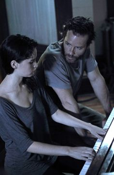 Guy Pearce and Felicity Jones in a scene from #BreatheIn