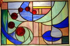 Tiffany stained glass panel by Clair Cheetham