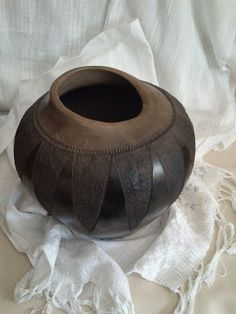 ...and after a while...     Terracotta                     Hand made in coiling technique, burnished, bisque fired, waxed and decorated ...