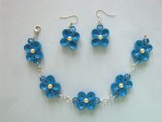 Bracelet and earrings set  http://mariaquilling.blogspot.com/