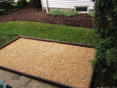 @Victoria Brown Brown Lewis & @Joyce Novak Booker Gubin This is a pretty neat idea :)   build a dog potty area, stop ruining grass !