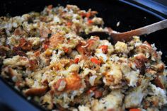 Traditional thanksgiving stuffing (crockpot)