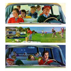 love this one!   Long Fun Day, art by John Falter. Detail from September 5, 1959 Saturday Evening Post cover.
