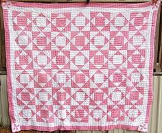 The Dewey Candy Pink quilt 1880 -1910  It's a sort of rob Peter to pay Paul type.