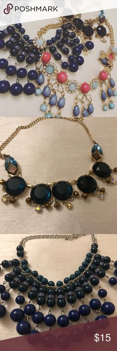 Statement Necklaces 3 super cute statement necklaces. Perfect for tying together outfits! Whether they are simple or complex, they're the perfect go to! Charming Charlie Jewelry Necklaces