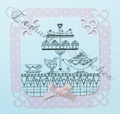 Afternoon Tea anyone?! Hand drawn fabulous invitations! http://www.enchantedtouches.co.uk/stationery/birthday/#