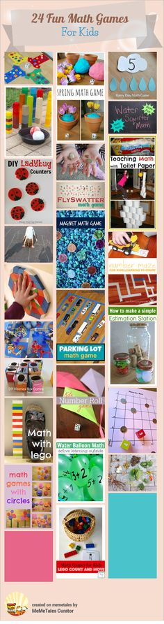 24 Fun Math Games For Kids.. click on photo and topic to access activity..