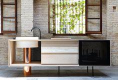 """plastolux:  """"Portable modern kitchen by MUT Design#mid century, #architecture, #MCM, #modern, #design, #modernism  """""""