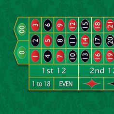 Monaco - Roulette Table Layout - GREEN