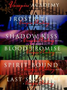 Vampire Academy Series by Richelle Mead contains six books in total. There is a movie for the first book and also a graphic novel series. Vampire Academy Books, Vampire Books, I Love Books, Good Books, Books To Read, Saga, Dimitri Belikov, I Love Reading, Book Fandoms