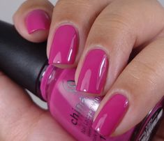 China Glaze:  ★ Dune Our Thing ★  China Glaze Off Shore Collection Summer 2014. Bright Pink fuchsia nail polish.