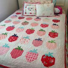 It's true. I kinda love her strawberry quilt! #strawberrysocialquilt