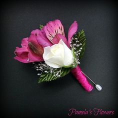 Boutonniere by Pamela's Flowers - See more designs at http://pamelasflowers.wix.com/weddingsbypamela #weddingflowers #harrisburgflorists #weddings #weddingpartyflowers