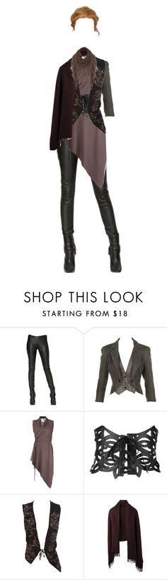 """""""backhand"""" by barbielish ❤ liked on Polyvore featuring Gareth Pugh, McQ by Alexander McQueen, Plein Sud, Forever 21, Ann Demeulemeester, A.F. Vandevorst and Jane Norman"""