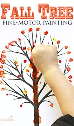 This q-tip fall tree is the perfect craft to work on fine-motor skills with your preschoolers!