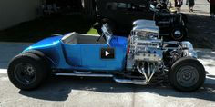 """Check out this 1200HP 1927 Ford Hot Rod """"Double-Trouble""""!  This thing has Two 4.6L V8 Engines joined by 4 Superchargers!  It is really incredible how this h"""