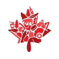 100 Logos in 100 Days by Hayden Aube, via Behance Canadian Things, I Am Canadian, Canadian Maple, Canada Logo, Canada 150, Cricut Canada, Canada Day Images, Canada Day Shirts, Canadian Symbols