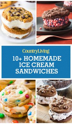 There's nothing better than an ice cream sandwich on a hot day. Here's t… There's nothing better than an ice cream sandwich on a hot day. Here's the best homemade ice cream sandwich recipes you need to try this summer. Best Homemade Ice Cream, Homemade Ice Cream Sandwiches, Diy Ice Cream, Ice Cream Treats, Ice Cream Cookies, Ice Cream Desserts, Frozen Desserts, Ice Cream Recipes, Ice Cream Sandwich Cookies Recipe