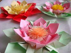 Master class, Assemblage Postal, Quilling, modelagem, origami, Origami modular: origami Flor original, de papelão em 8 de março, Dia Internacional da Criança, Aniversário, Dia do Professor, no início do ano escolar.  Foto 1