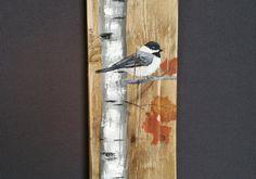 HAUTEUR chute de récupération bois palette Art, peint à la main bouleau blanc Mésange oiseau, haut, upcycled, Wall art, Distressed, Shabby Chic  Peinture acrylique sur palette récupéré. Cette pièce unique est 5 1/4 x 36 de hauteur  Parfait pour que lespace mural Slim.  Toutes mes créations sont faites de planches récupérées. Ils sont peints à la main et sont faits après que quils sont classés. Même si jessaie autant que possible en double original, il peut y avoir légères variations comme…