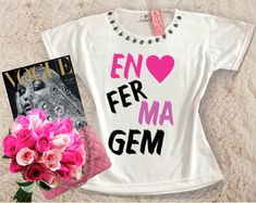 Baby Look Customizada - Enfermagem T Shirts For Women, Tank Tops, Fashion, Home Outfit, Women's T Shirts, Best Outfits, Block Prints, Go Outside, Blouse Models