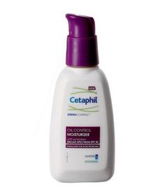 Cetaphil DermaControl Moisturizer SPF 30 This oil-controlling hydrator delivers an all-day matte finish, even along the shiny T-zone. Plus, it won't clog pores or exacerbate breakouts.