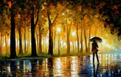 Artist Leonid Afremov uses vibrant color and choppy brush-strokes to create these incredible oil paintings.  View the post: http://ornge.me/JUCxN3
