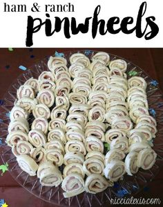 Ham and Ranch Pinwheels!! This is one of the most popular recipes on my blog and it's super easy to make!! #Pinwheels #HamAndRanchPinwheels